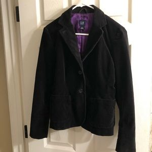 GAP velvet black blazer